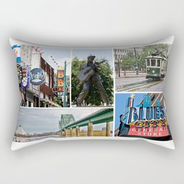 Memphis Memories Rectangular Pillow