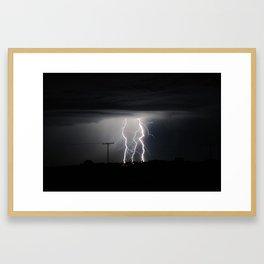 Lightning Strikes - Saskatchewan Skies 2 Framed Art Print