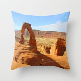 Delicate Arch Utah - Traveling series Throw Pillow