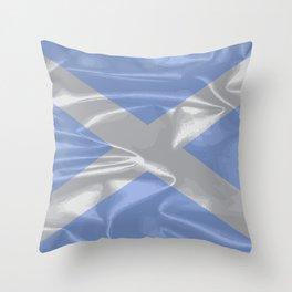 Scotland Silk Flag Throw Pillow