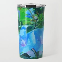 Morning Glory Flowers Travel Mug