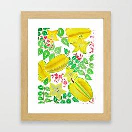 Starfruit Season Framed Art Print