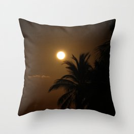 Full Moon at the Caymans Throw Pillow