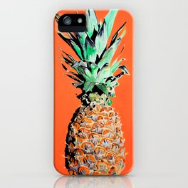 Pineapple pop art painting iPhone Case