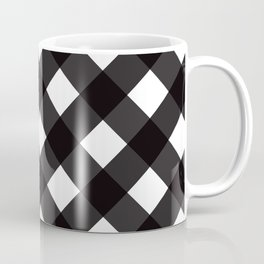 Contemporary Black & White Tilt Gingham Pattern - Mix & Match With Simplicty Of Life Coffee Mug