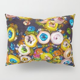 Jeweled Buttons Pillow Sham