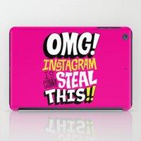 instagram iPad Cases featuring OMG! INSTAGRAM! by Chris Piascik