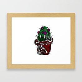 Jan the Cactus Framed Art Print