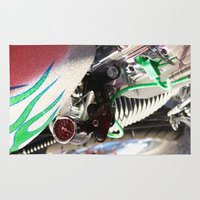 motorcycle Area & Throw Rugs featuring Motorcycle by Carlo Toffolo