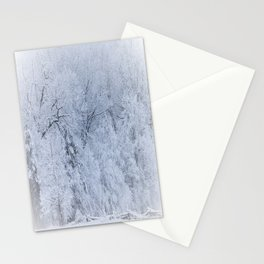 First Snow Fall Fresh Snow on Trees Nature Photography ~ Winter Hush Stationery Cards