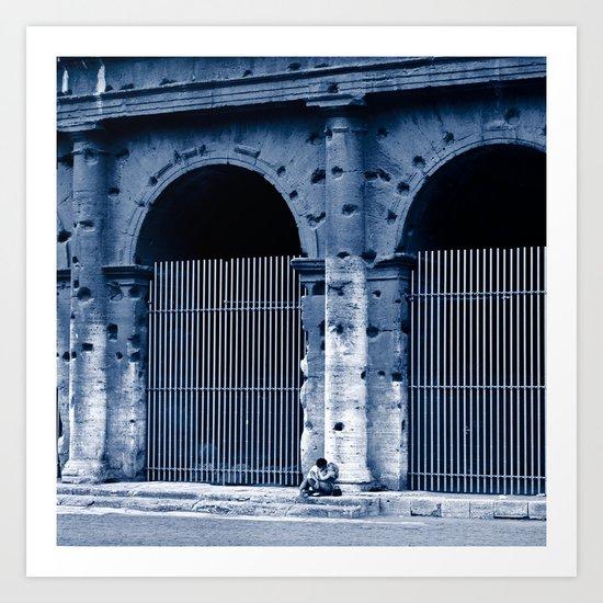 LOVERS - Rome - Italy  Art Print