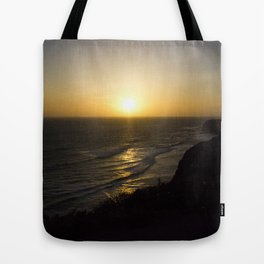 Cliff Top Sunset Tote Bag