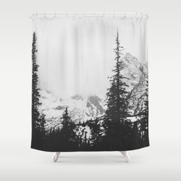 Forest under the Mountain Shower Curtain