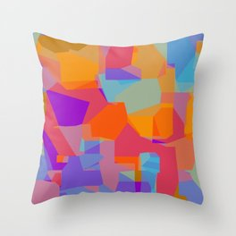 orange red blue and purple abstract background Throw Pillow