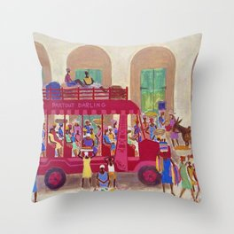 African American Masterpiece 'Haitian Camion' by Ellis Wilson Throw Pillow