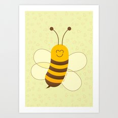 Cute Baby Bee Art Print