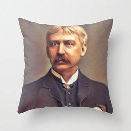 Bret Harte, Literary Legend Throw Pillow