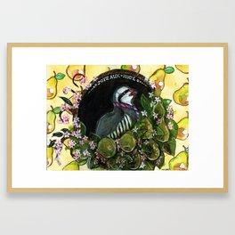 Joyeux Noel Partridge Framed Art Print