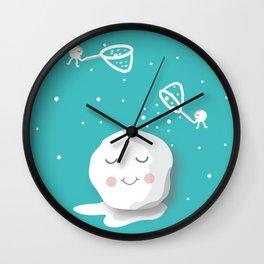 Building a snowball Wall Clock