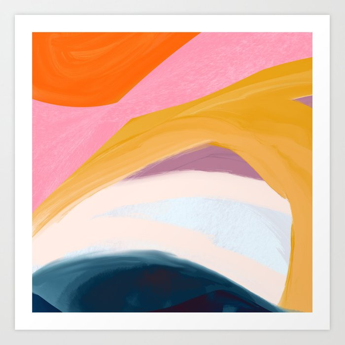 Let Go - no.36 Shapes and Layers Art Print
