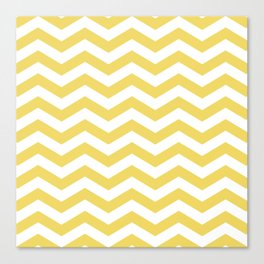 Yelow Chevron Canvas Print