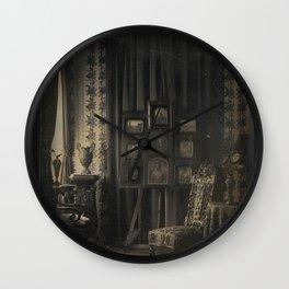 Old Photo Seamless Pattern Wall Clock