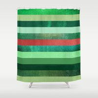 watermelon Shower Curtains featuring Watermelon by Elisabeth Fredriksson