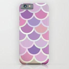 Purple Mermaid Pattern iPhone Case