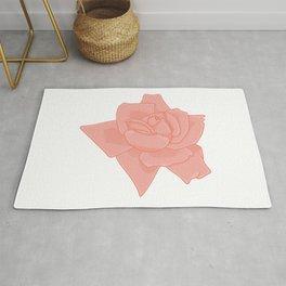 Coral Rose Illustration Rug