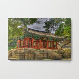 Pavillon at Gyeongbokgung Palace, South Korea Metal Print