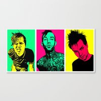blink 182 Canvas Prints featuring Blink-182 by ACHE