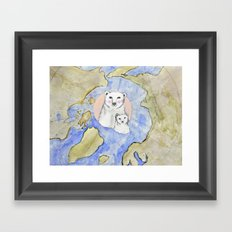 Polar Bear Portrait Framed Art Print