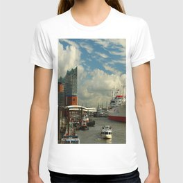 Elbharmonie With Harbor Scene T-shirt