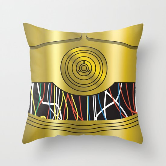 Star Wars C3PO Vector Throw Pillow