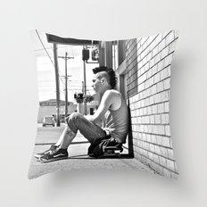 Tacoma skater Throw Pillow