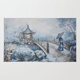 Snowstorm (Winter) Merry Christmas Rug