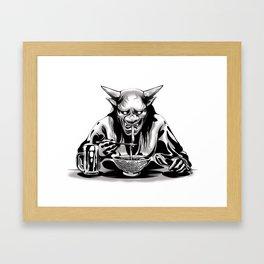 Hungry Ramen Framed Art Print