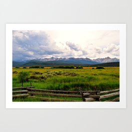 Sawtooth Mountains on a Stormy Day Art Print