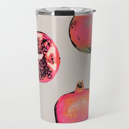 Pomegranate Pattern Travel Mug