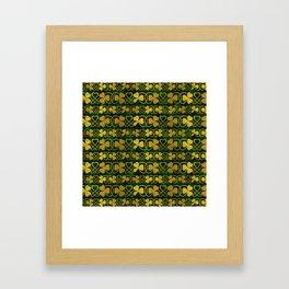 Irish Shamrock -Clover Gold and Green pattern Framed Art Print