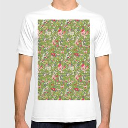 painted floral T-shirt