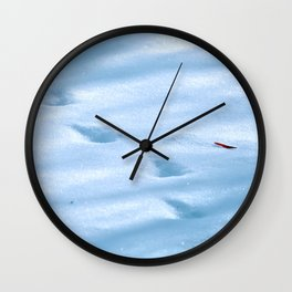 Snow Fall Feather Wall Clock