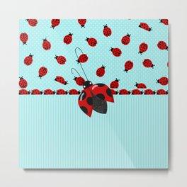 Sweet Ladybugs Metal Print