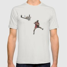 MJ50 Mens Fitted Tee Silver LARGE