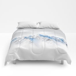 Snow Capped Mountains Comforters