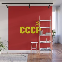 CCCP Hammer Sickle Wall Mural