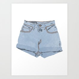 She Wears Short Shorts Art Print