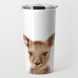 Baby Kangaroo, Baby Animals Art Print By Synplus Travel Mug