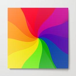 Color wheel pin wheel Metal Print