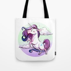 Chubby Unicorn: Indigo Tote Bag